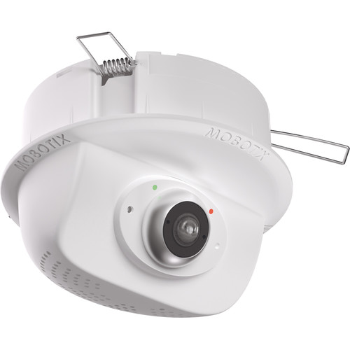 MOBOTIX Two P25 6MP Hemispheric Ceiling Cameras with 8-Port Switch Surveillance Kit