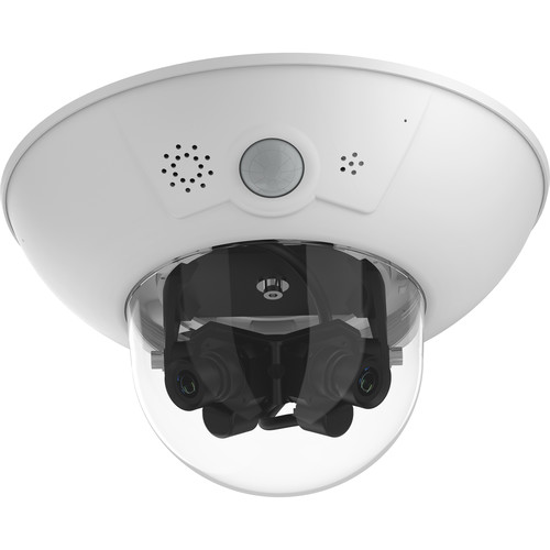 MOBOTIX D15 DualDome 5MP Network Dome Camera with Day/Night L23 Lenses