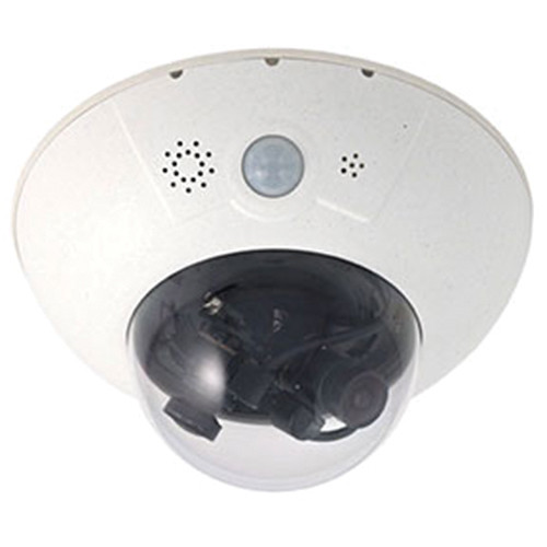 MOBOTIX D15D Dual Dome IP Camera with Dual Sensors & Lenses (Day 43mm & Night 43mm)