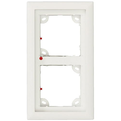 MOBOTIX Double Frame for T25 IP Door Station (Silver)