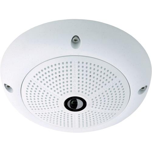 MOBOTIX MX-Q25M-SEC-D12 Q25 Hemispheric Network Camera with 5MP Day Sensor and 12mm Fisheye Lens (White)