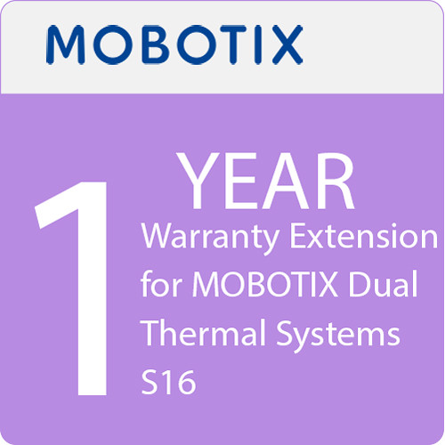 MOBOTIX 1-Year Warranty Extension for MOBOTIX Dual Thermal Systems S16