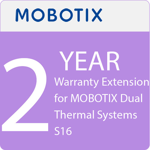 MOBOTIX 2-Year Warranty Extension for MOBOTIX Dual Thermal Systems S16