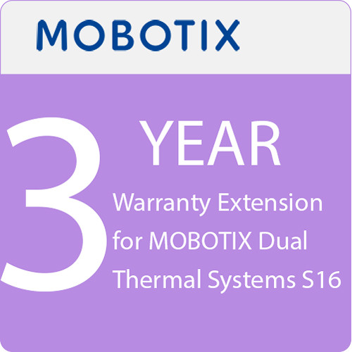 MOBOTIX 3-Year Warranty Extension for MOBOTIX Dual Thermal Systems S16