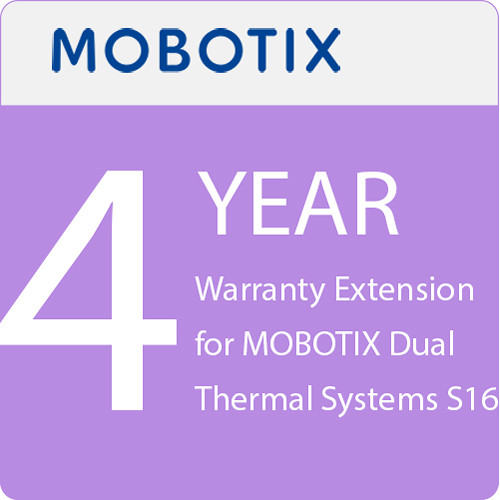 MOBOTIX 4-Year Warranty Extension for MOBOTIX Dual Thermal Systems S16