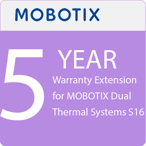 MOBOTIX 5-Year Warranty Extension for MOBOTIX Dual Thermal Systems S16