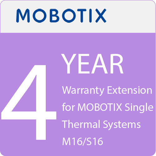 MOBOTIX 4-Year Warranty Extension for MOBOTIX Single Thermal Systems M16/S16