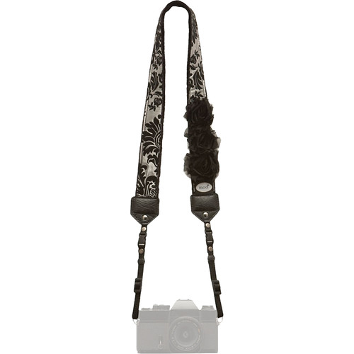 Mod Premium Camera Strap (Silver Victorian with Flowers)