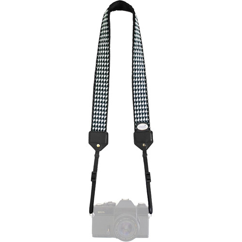 Mod Classic Camera Strap (Houndstooth with Black Minky)