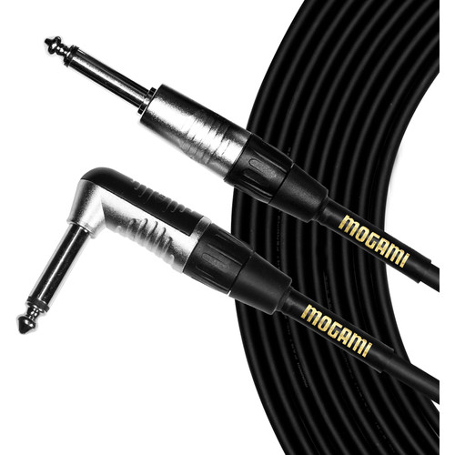 """Mogami CorePlus 1/4"""" TS Male to 1/4"""" TS Right-Angle Male Instrument Cable (20')"""