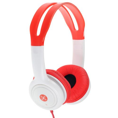 moki Volume-Limited Headphones for Kids (Red)