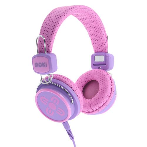 moki Kids Safe Volume-Limited Headphones (Pink/Purple)