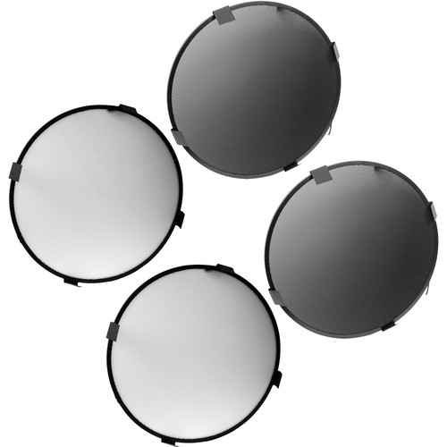 "Mola Set of 4 Grids for 20.5"" Profoto Beauty Dish (25/45°, White/Black)"