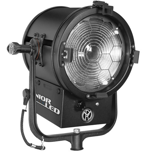 """Mole-Richardson JuniorLED 200W 8"""" Fresnel with DMX for Grid Mounting (Tungsten)"""