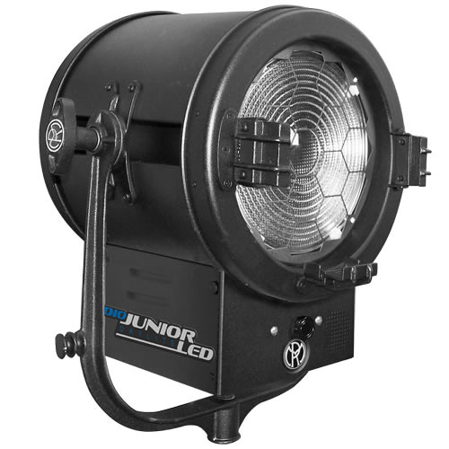 """Mole-Richardson 400W JuniorLED 10"""" Tungsten Fresnel with DMX for Grid Mounting"""