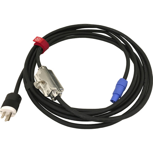 Mole-Richardson powerCON TRUE1 to Edison with Inline Toggle Switch Cable (20')