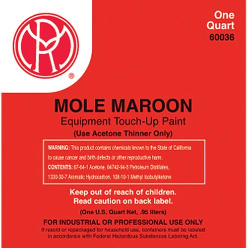 Mole-Richardson 60036 Mole-Maroon Enamel Paint (1 Quart)