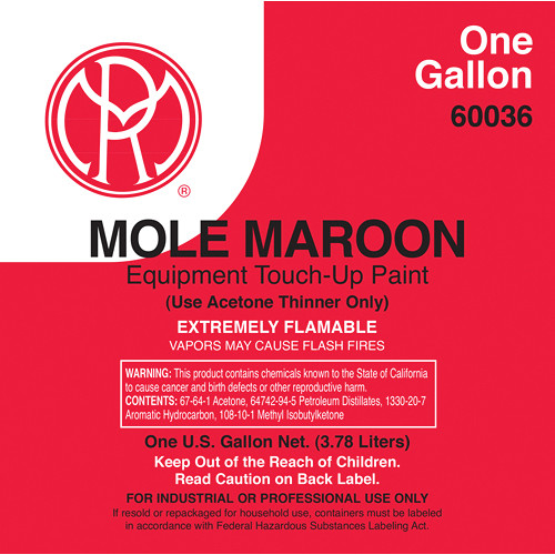 Mole-Richardson Mole-Maroon Paint (1 Gallon)