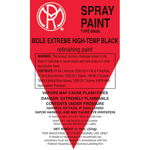 Mole-Richardson Extreme Hi-Temp Enamel Spray Paint (Black, 13 oz)