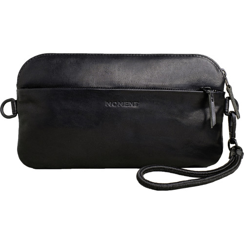 Moment Crossbody Wallet (Black Leather)