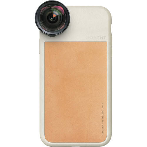Moment Photo Case - Tan Leather iPhone XR