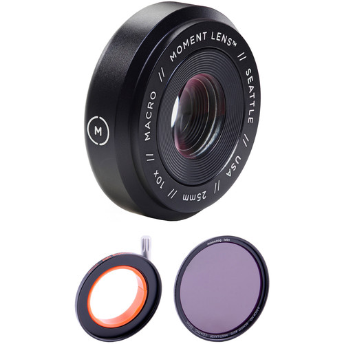 Moment Macro Lens with 3-Stop Neutral Density Filter Kit