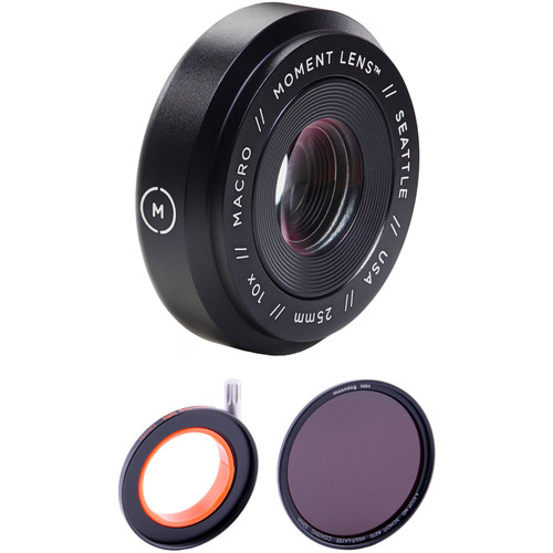 Moment Macro Lens with 4-Stop Neutral Density Filter Kit
