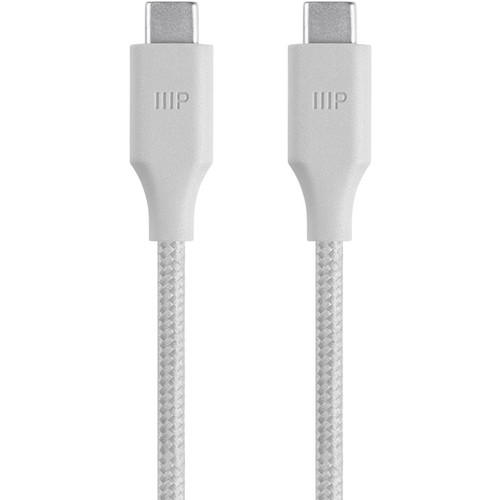 Monoprice USB 2.0 Type-C to Type-C Male Palette Series Cable (6', White)