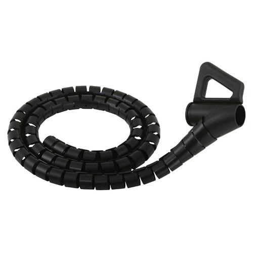 Monster Cable 122429 Essentials 8' Black Medium Cable Management Kit