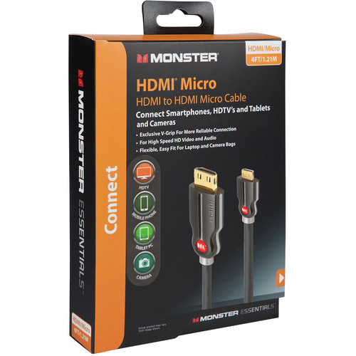 Monster Cable 4' Digital Life SuperThin HDMI Cable (Black)