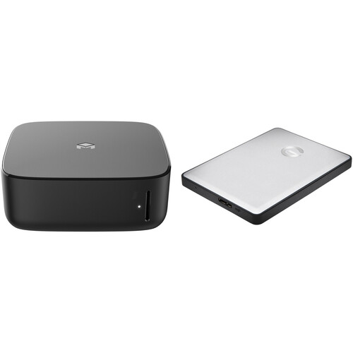 Monument Labs Personal Cloud Server with Gigabit Ethernet, Wi-Fi, and G-Tech 1TB USB 3.0 Hard Drive