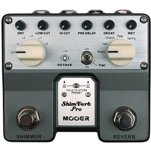 MOOER Twin Series ShimVerb Pro Digital Reverb Pedal