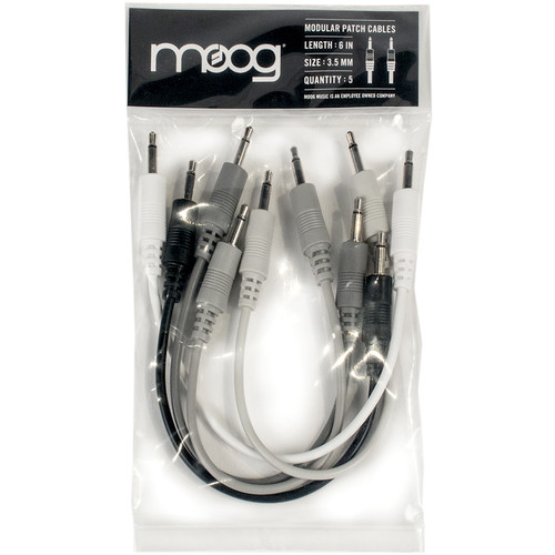 "Moog 6"" Patch Cables for Mother-32 Synthesizer (5-Piece Set)"