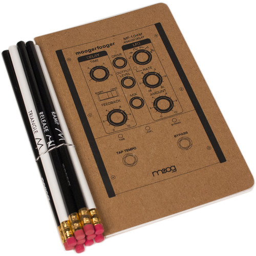 "Moog Moogerfooger Notebook & Synthesis Pencil Set (5 x 8"")"