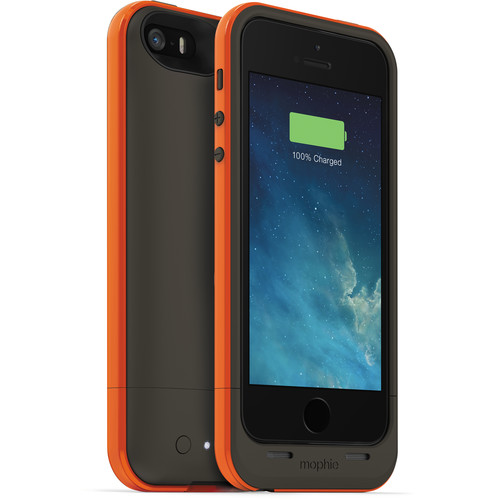 mophie juice pack plus outdoor edition for iPhone 5/5s/SE - Orange