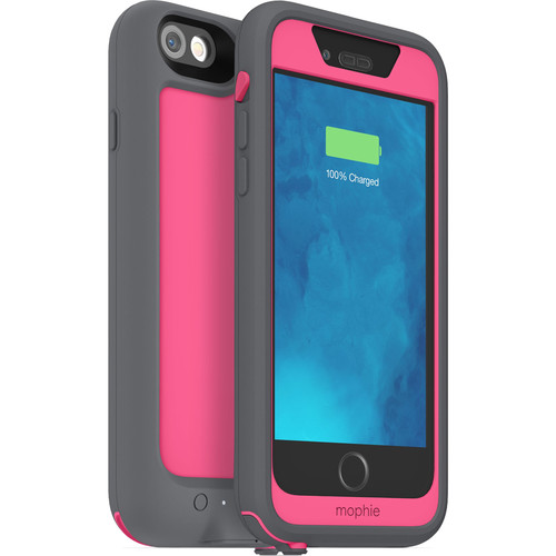 mophie juice pack H2PRO Waterproof Battery Case for iPhone 6/6s (Pink)