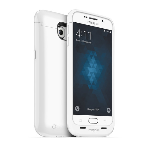 mophie juice pack Battery Case for Galaxy S6 (White)