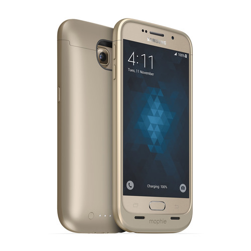 mophie juice pack Battery Case for Galaxy S6 (Gold) 3206 B&H