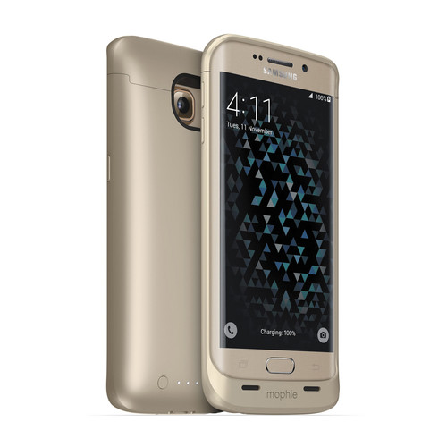 mophie juice pack Battery Case for Galaxy S6 Edge (Gold)
