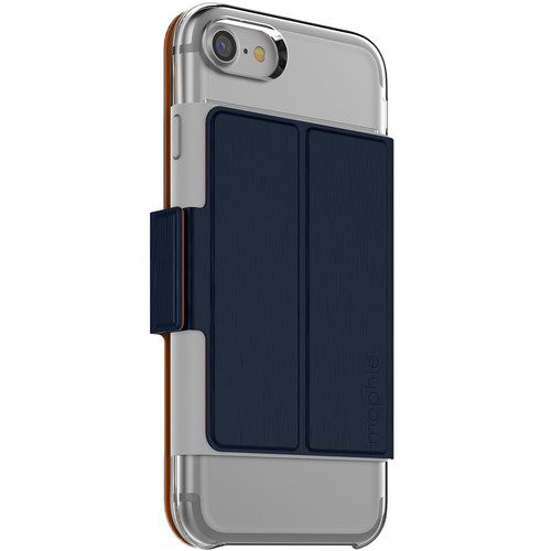 mophie Hold Force Folio for iPhone 7 and iPhone 8 (Navy/Orange)