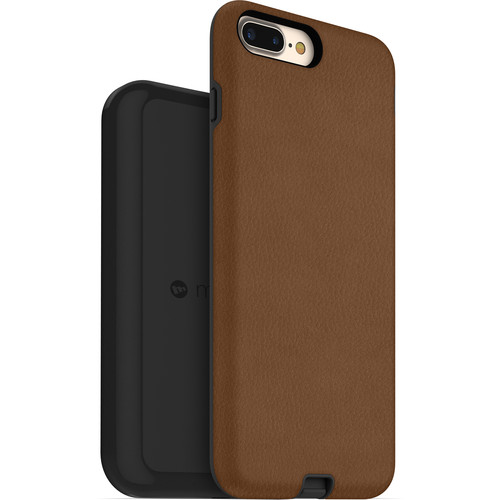 mophie Apple iPhone 7/8 Plus charge force case & wireless charging base (Tan)