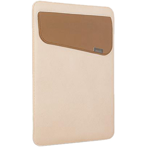 """Moshi Muse 13 Slim Fit Carrying Case for 13"""" MacBook, Air, Pro, Retina or iPad Pro (Sahara Beige)"""