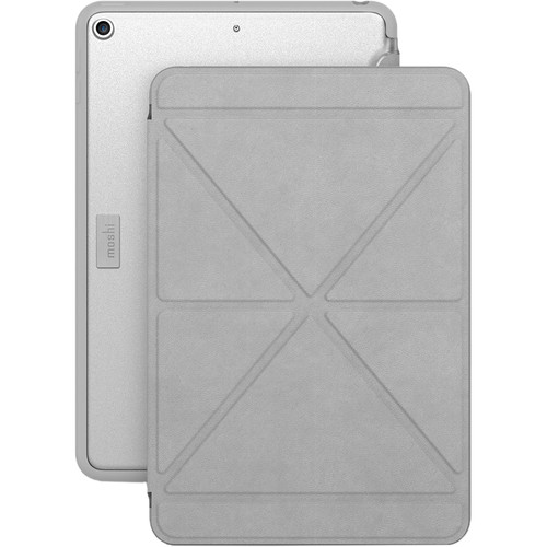 Moshi VersaCover Case with Folding Cover for iPad mini (Early 2019, Stone Gray)