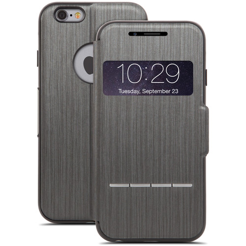 Moshi SenseCover Touch-Sensitive Flip Case for iPhone 6/6s (Steel Black)