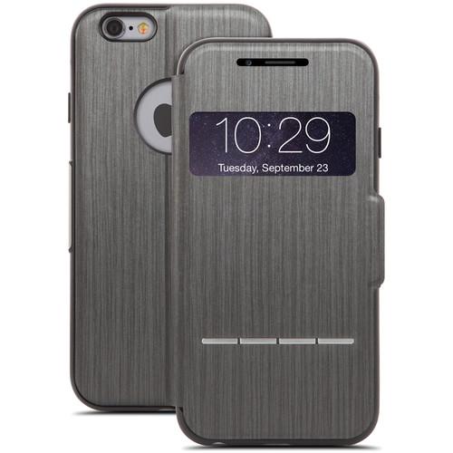 Moshi SenseCover Touch-Sensitive Flip Case for iPhone 6 Plus/6s Plus (Steel Black)