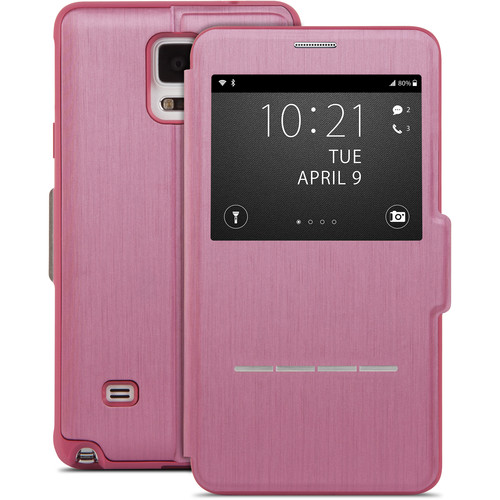 Moshi SenseCover Touch-Sensitive Flip Case for Galaxy Note 4 (Pink)