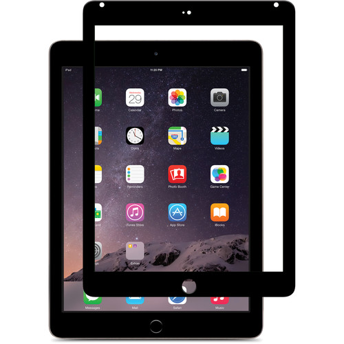 Moshi iVisor Glass Screen Protector for iPad Air/iPad Air 2 (Black)