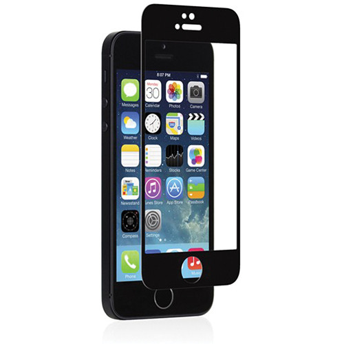 Moshi iVisor Glass Screen Protector for iPhone 5/5s/5c/SE (Black)