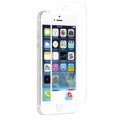 Moshi iVisor Glass Screen Protector for iPhone 5/5s/5c/SE (White)