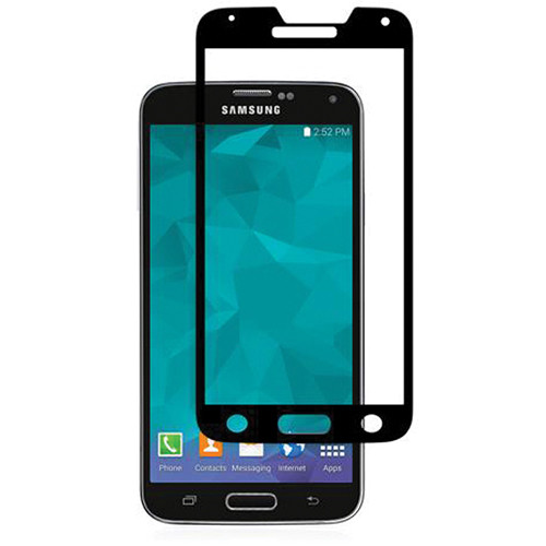 Moshi iVisor Glass Screen Protector for Galaxy S5 (Black)